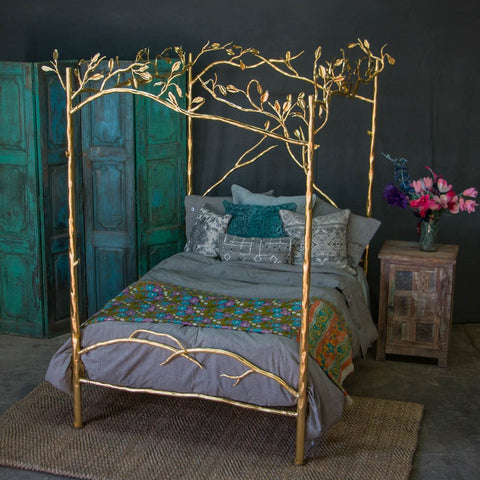Forest Canopy Bed   24 Karat Gold