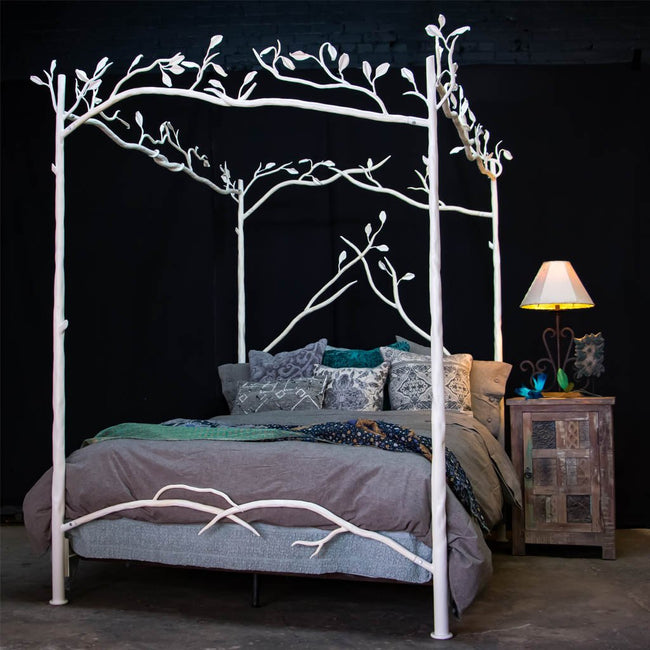 Forest Canopy Bed in White