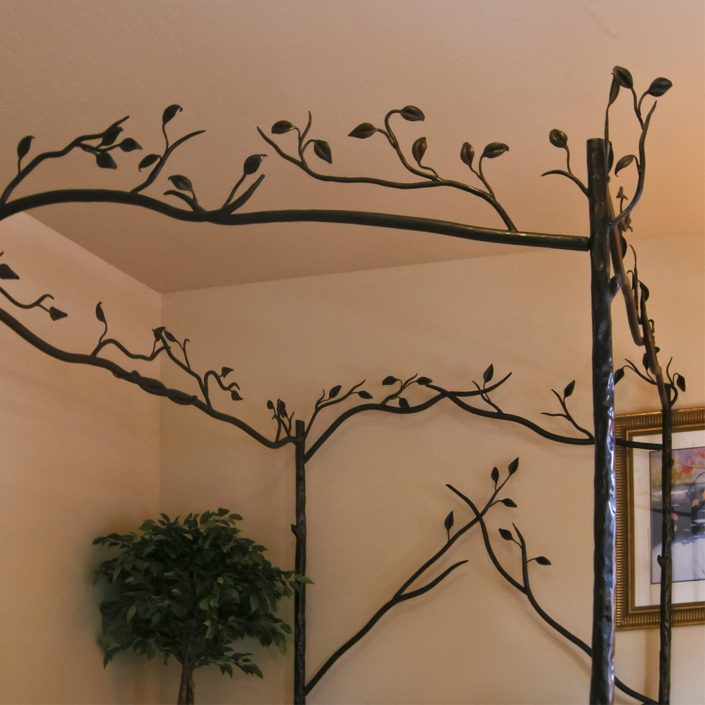Iron Canopy bed forest