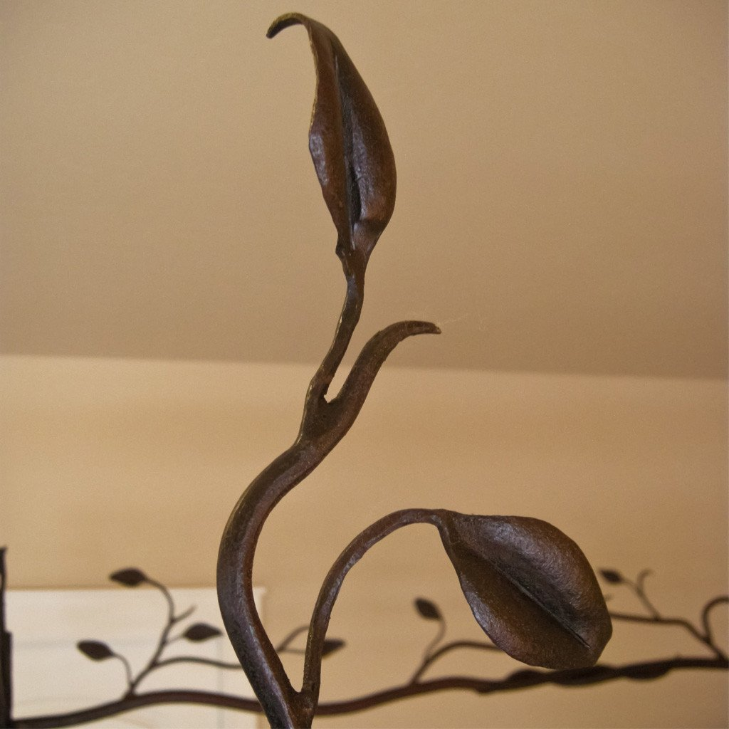 Hand forged Iron Forest Canopy Bed Artesanos Design Collection