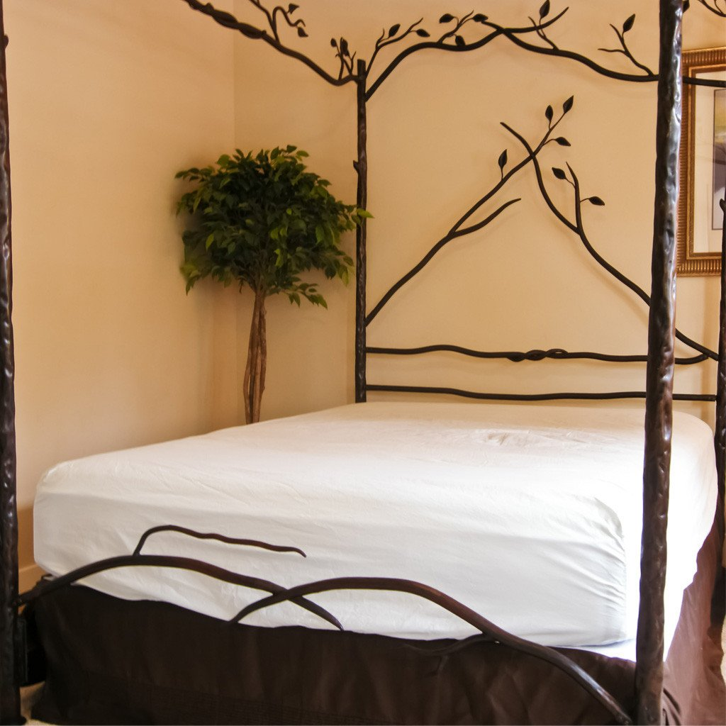 Hand Forged Iron Forest Canopy Bed