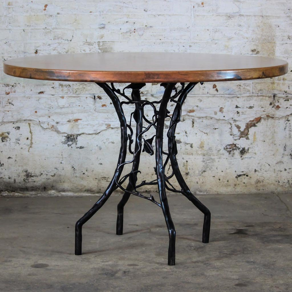 Copper top forest dining tables