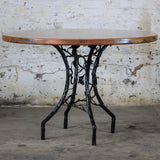 Copper top forest side table