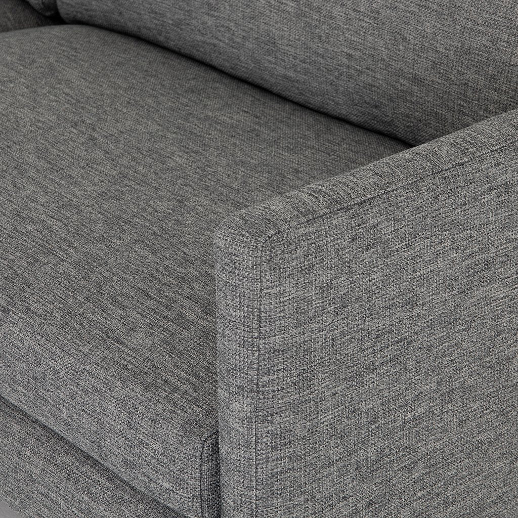 Arm Detail Francesca Designer Sofa - Fairfax Slate