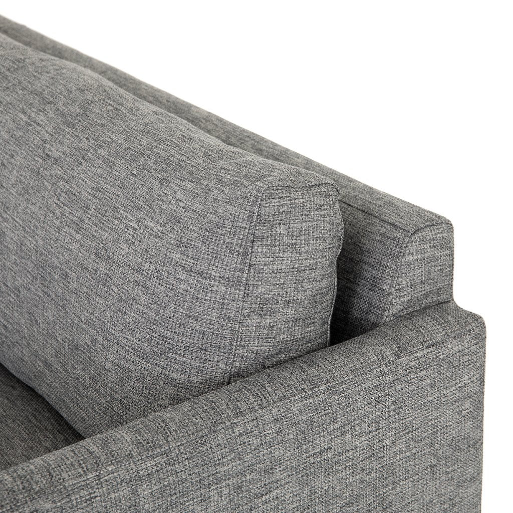 Backrest Detail Francesca Designer Sofa - Fairfax Slate