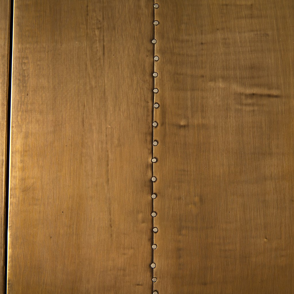 Aged Brass Finish Detail Freda Aged Brass Sideboard