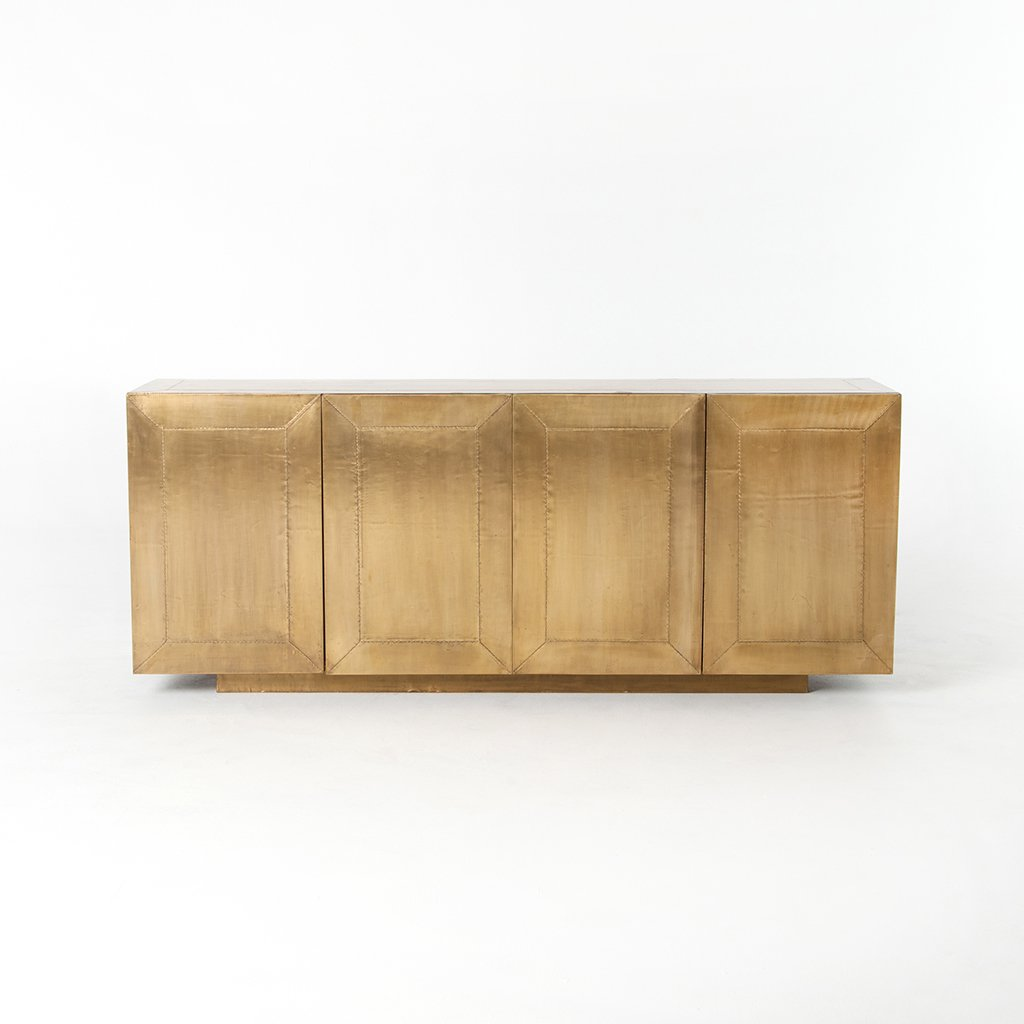 Front View Freda Aged Brass Sideboard