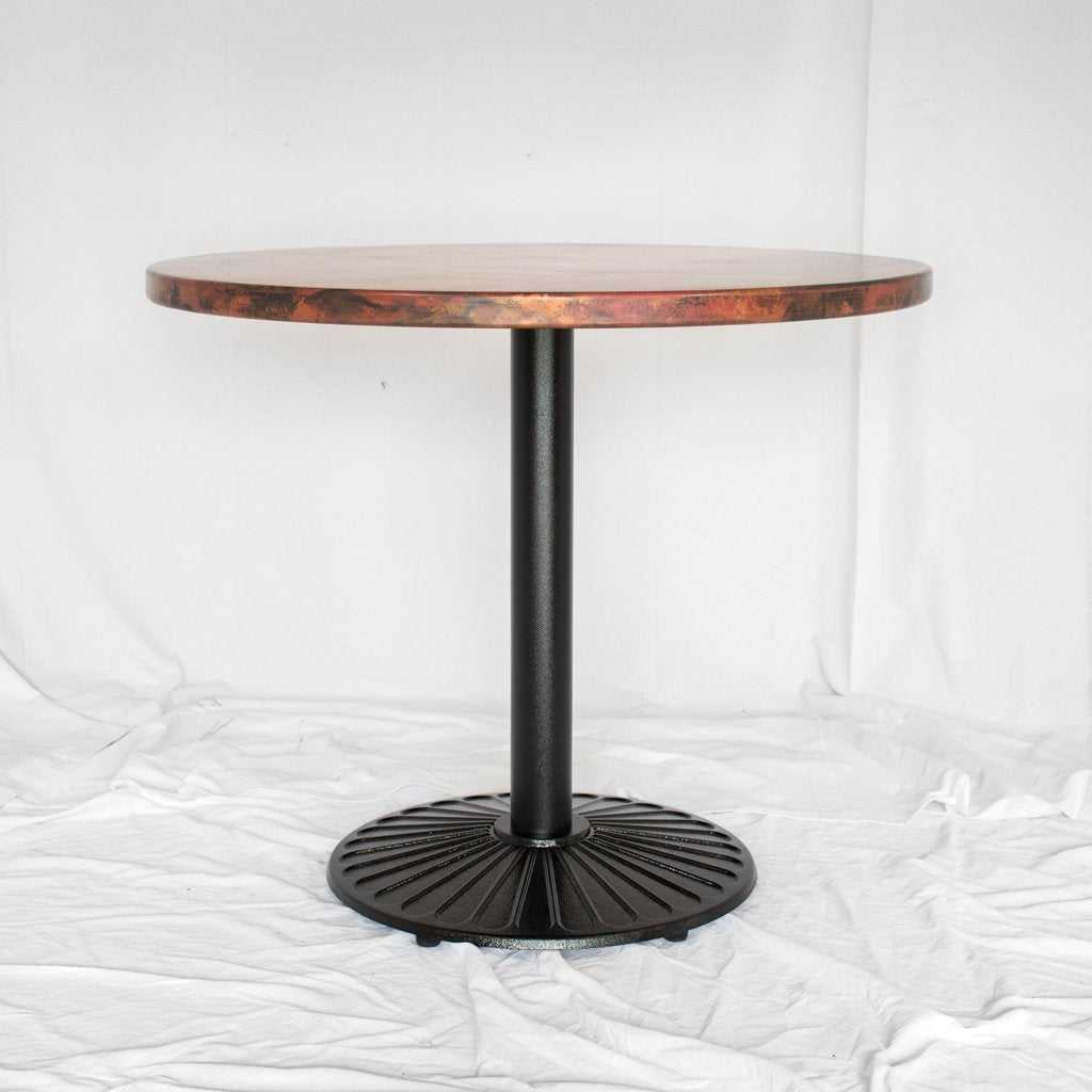 Galena Round Copper Bistro Table Artesanos