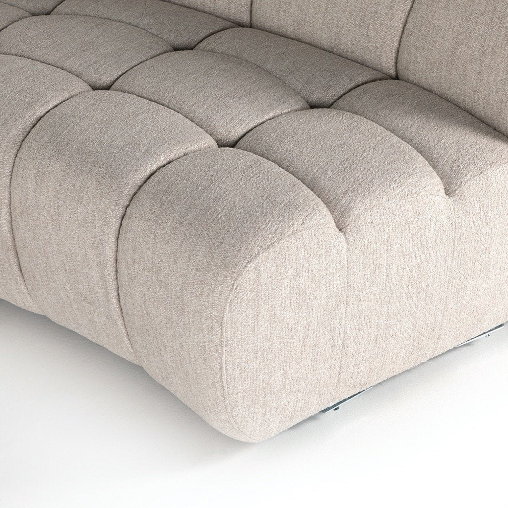 Gemma 4PC Sectional - Fayette Dove Detail