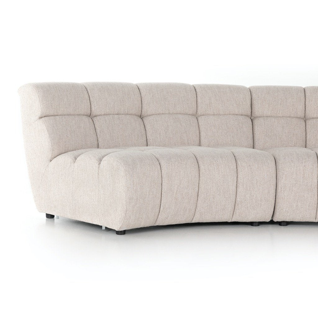 Gemma 4PC Sectional - Fayette Dove Left Side View