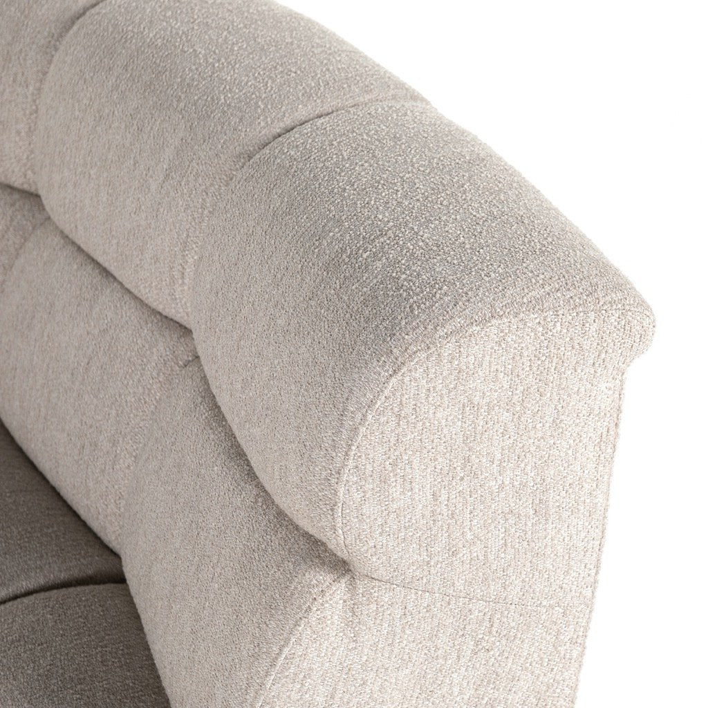 Gemma 4PC Sectional - Fayette Dove Backrest Detail