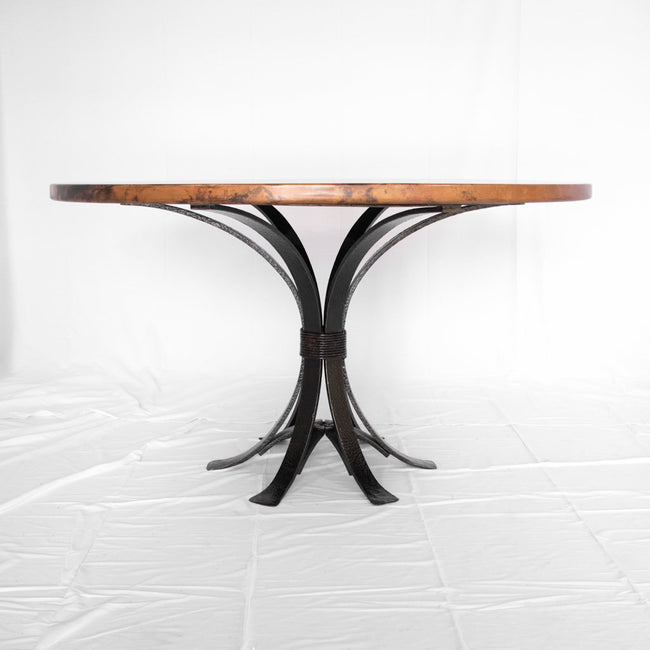 Artesanos Gladstone Dining Table Copper and Iron