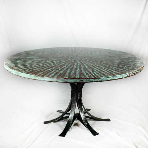 Gladstone Copper and Iron Dining Table
