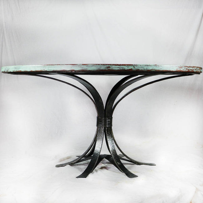 Gladstone Copper and Iron Dining Table Weathered Penny