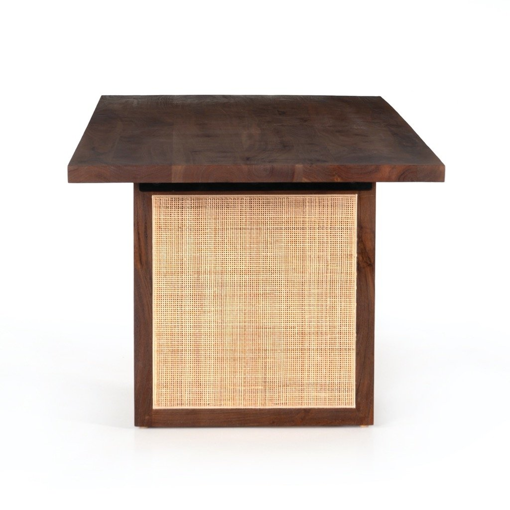 Goldie Dining Table - Toasted Acacia Side View