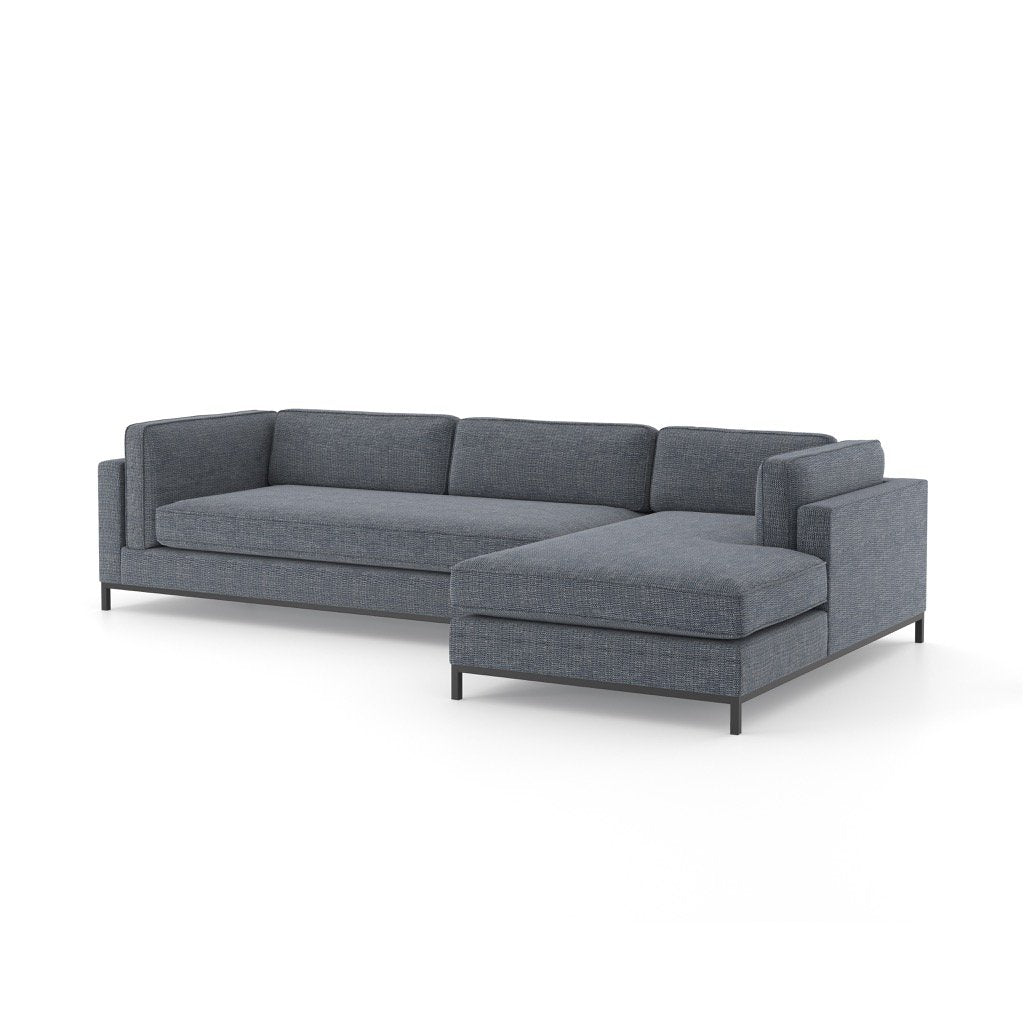 Grammercy Sectional Sofa - Cypress Navy Right Arm Facing Chaise
