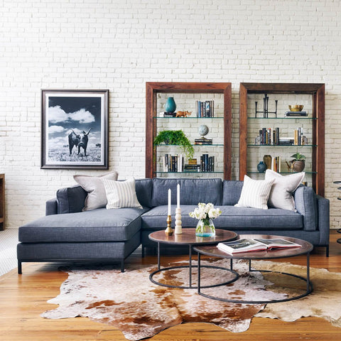 Grammercy Sectional Sofa - Bennett Charcoal UATR-001-BCH Four Hands Furniture : charcoal sectional sofa - Sectionals, Sofas & Couches
