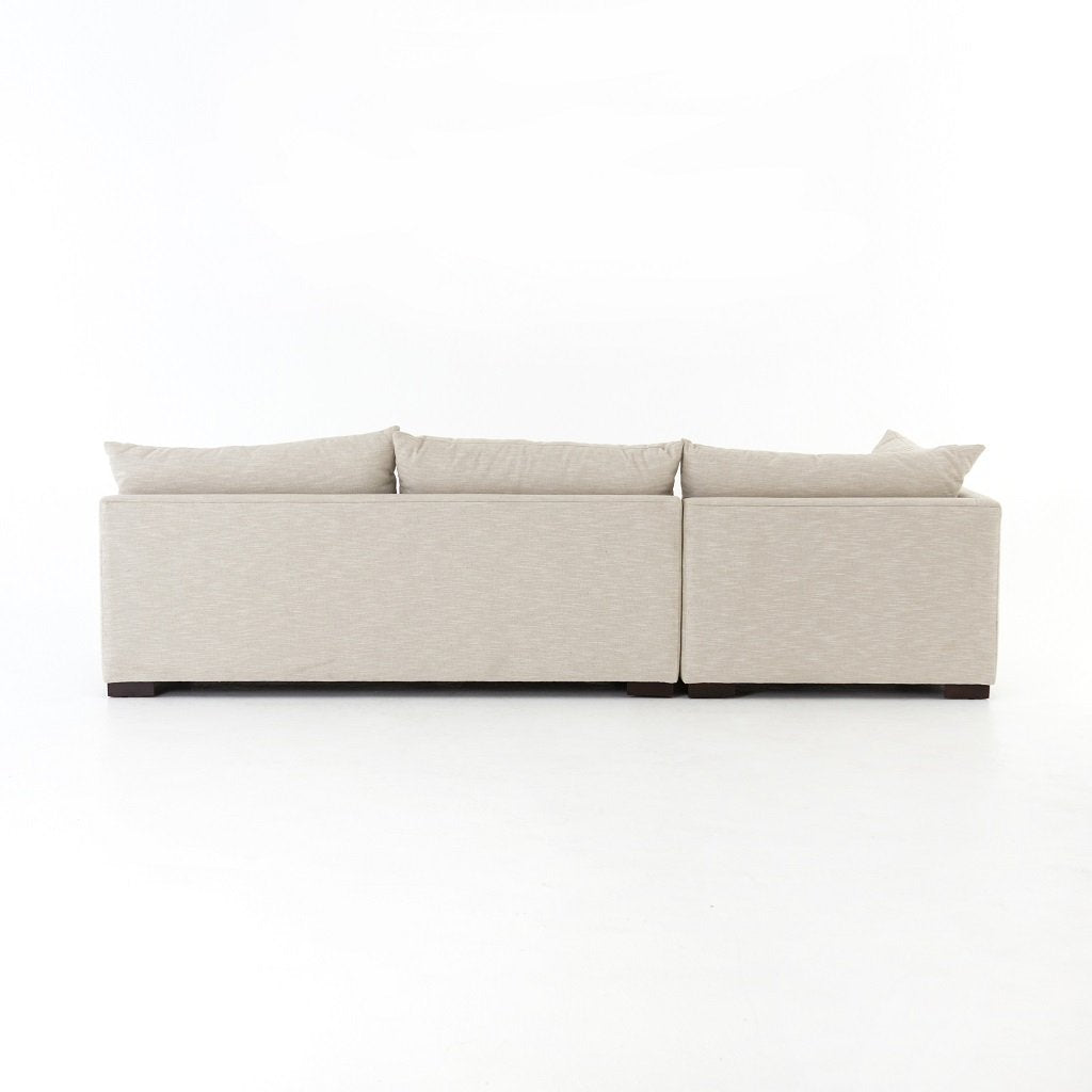 Grant 3-Piece Sectional Sofa - Oatmeal Back View