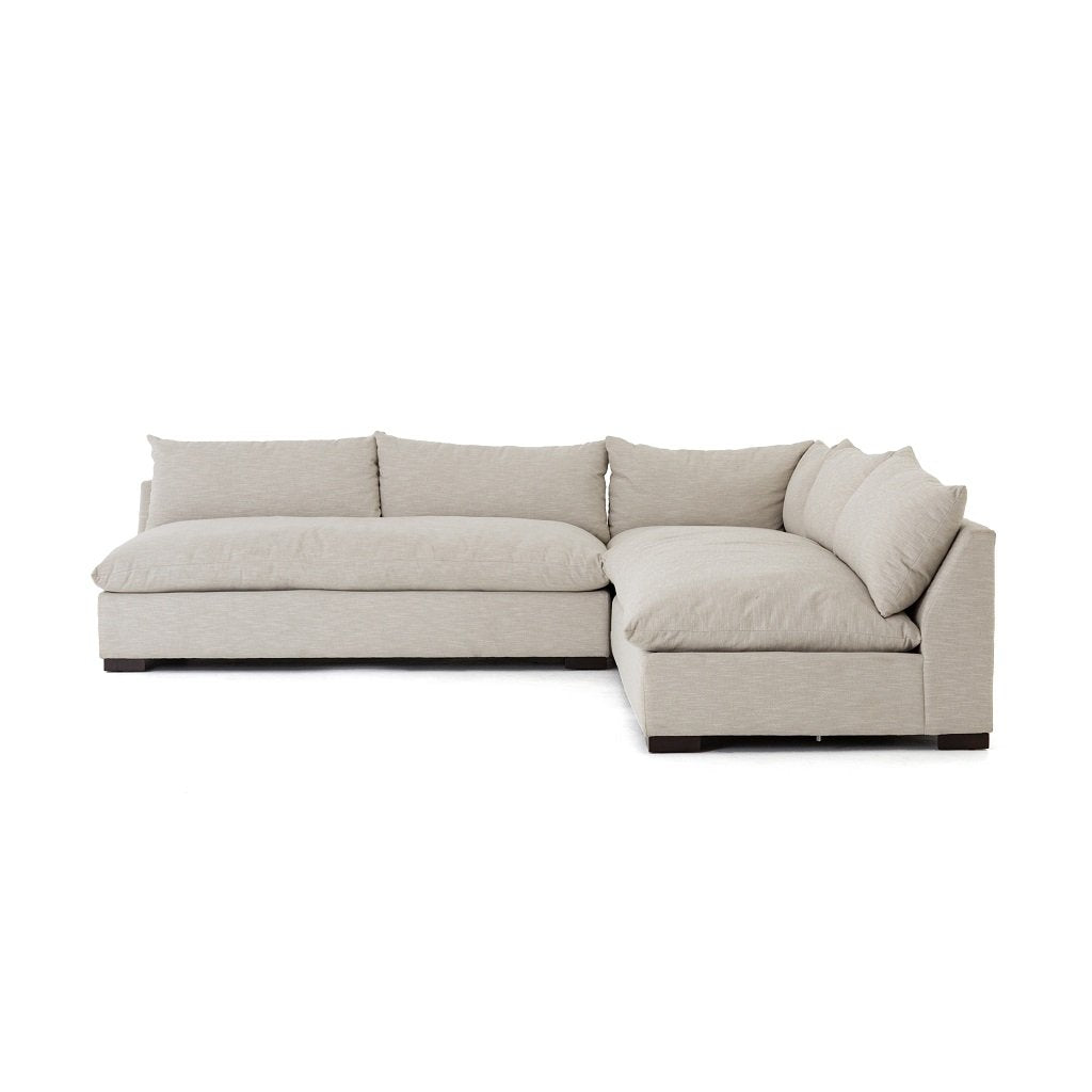 Grant 3-Piece Sectional Sofa - Oatmeal Side View