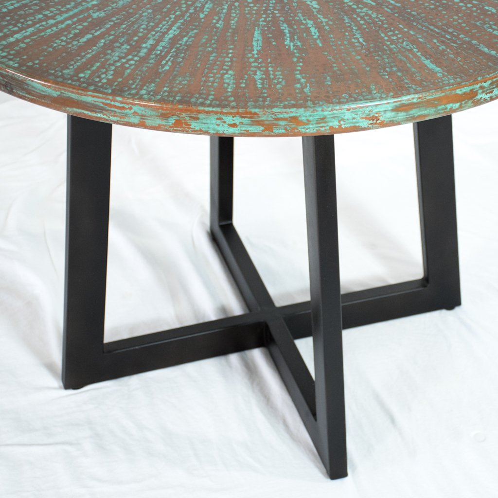 Graysill Copper Dining Table - Weathered Penny