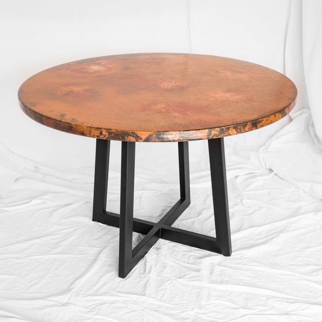 Round Copper Dining Table Artesanos