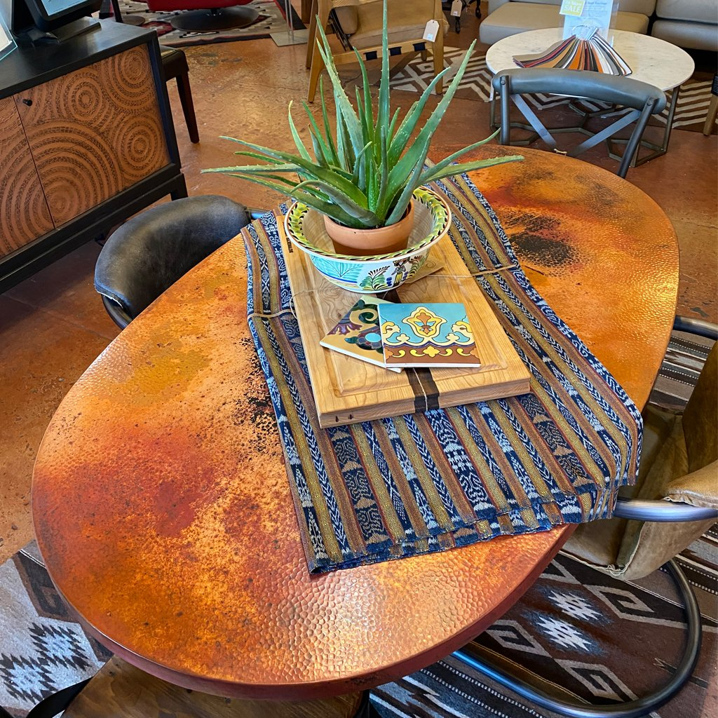 Oval Copper Table Natural Finish