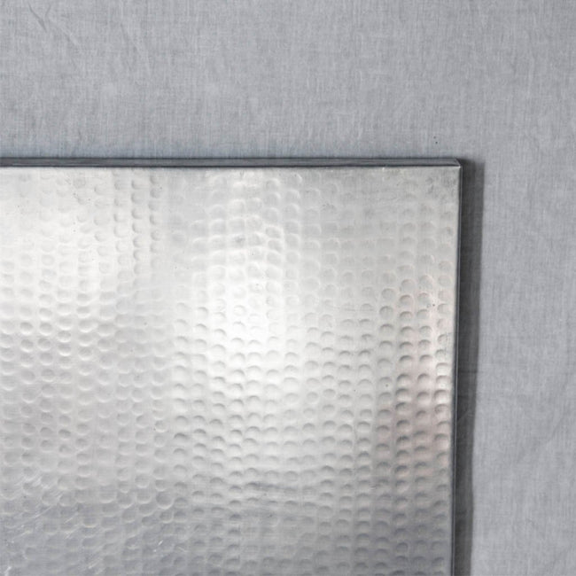 Zinc Tabletop - Square with Hammered Texture Artesanos
