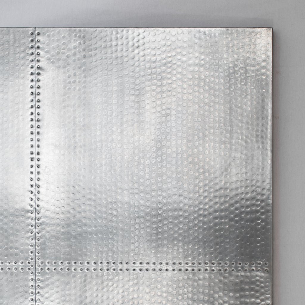 Square Zinc Tabletop - Hammered texture