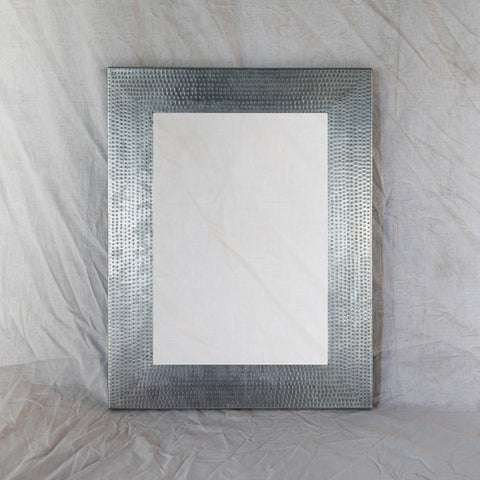 Hammered Zinc Mirror