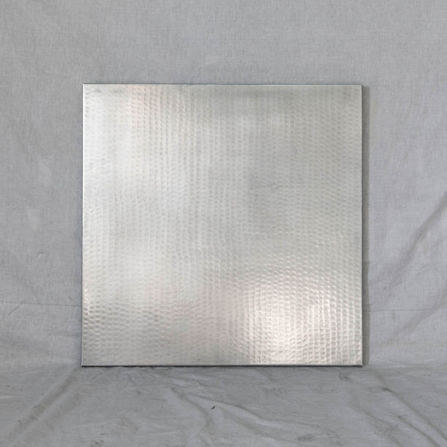 Zinc Tabletop - Sqaure with Hammered Texture