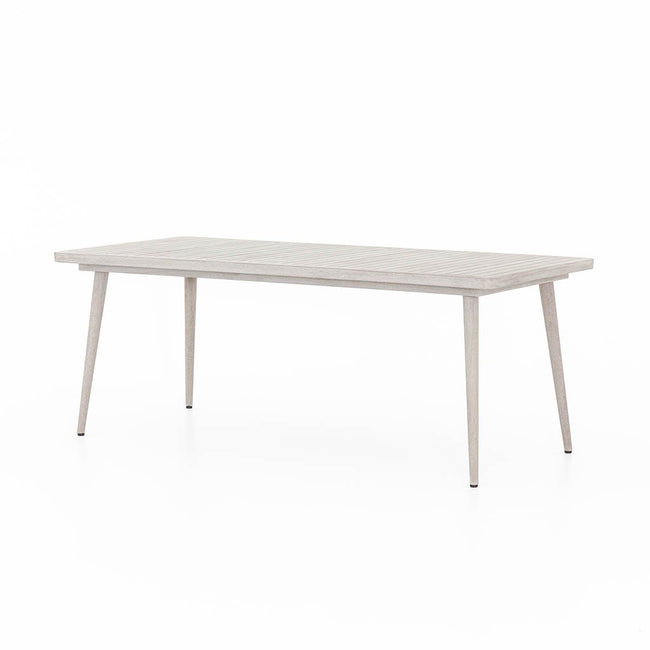 Hansen Outdoor Teak Dining Table - Washed Grey Hansen Outdoor Teak Dining Table - Brown JSOL-025