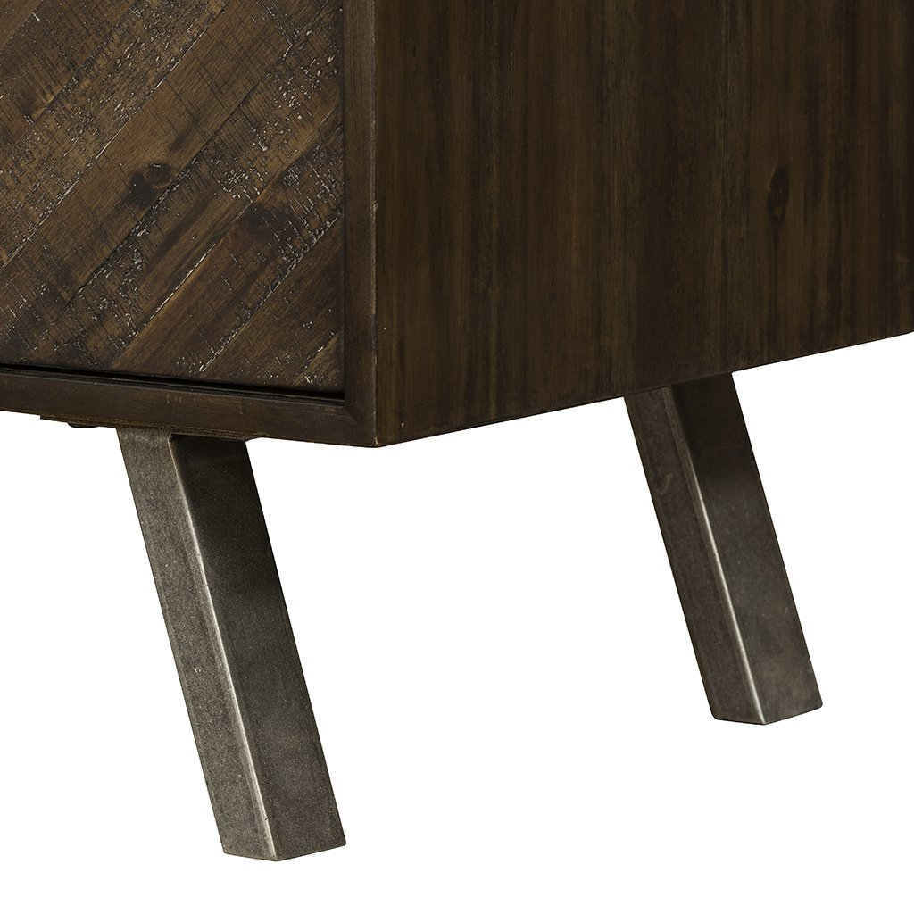 Harrington Nightstand VBLR-006 Four Hands leg detail