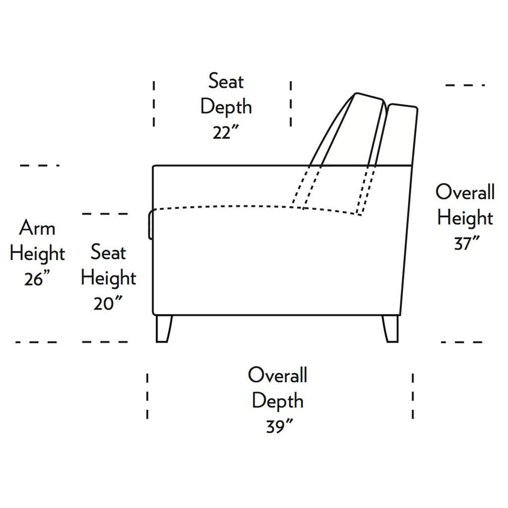 Harris Comfort Sleeper Sofa Side Dimensions