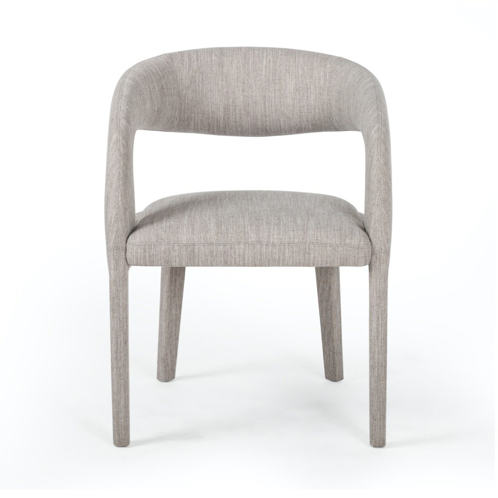 Four Hands Hawkins Dining Chair - Savile Flannel front view
