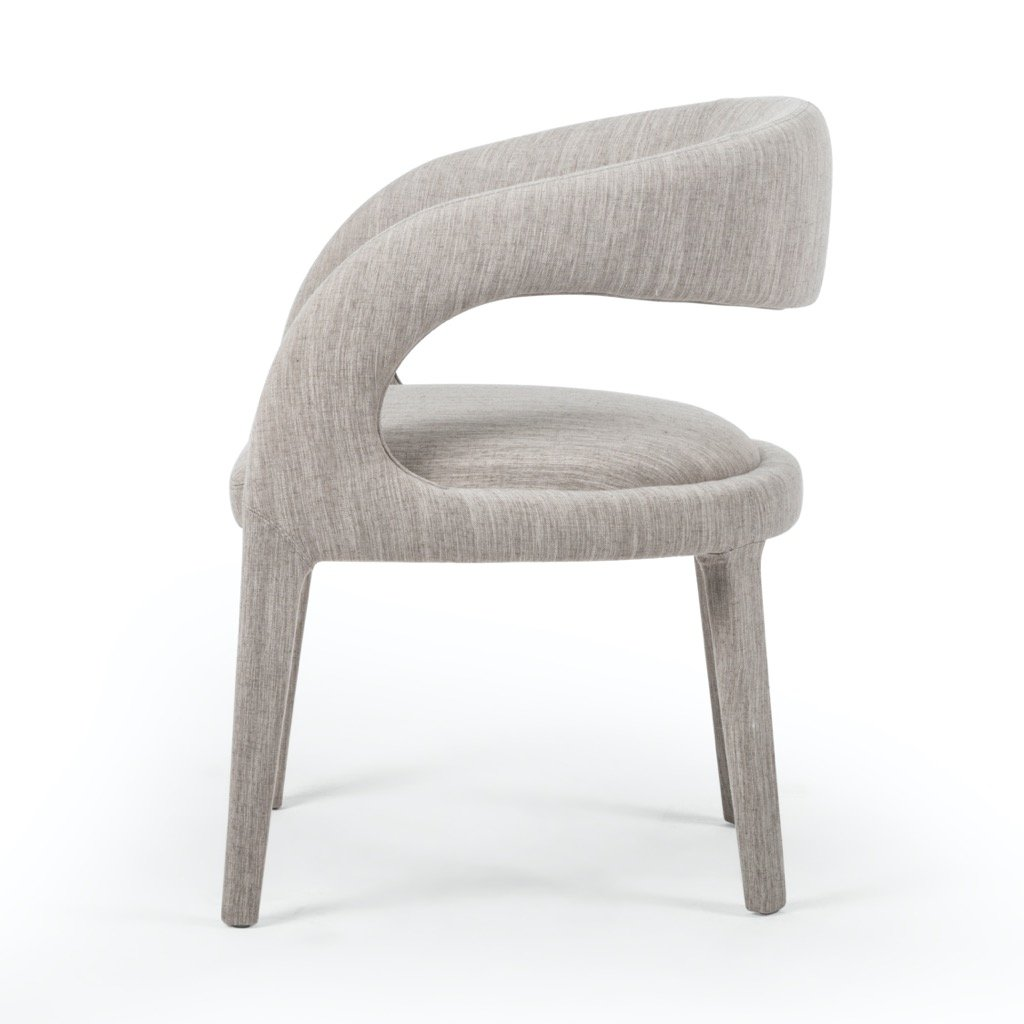 Hawkins Dining Chair - Savile Flannel Side view