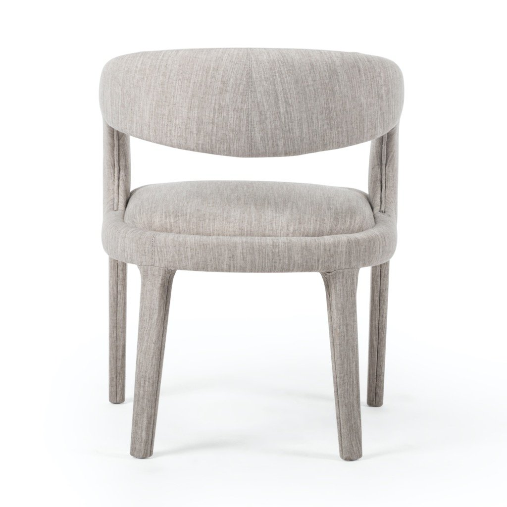 Hawkins Dining Chair - Savile Flannel back view