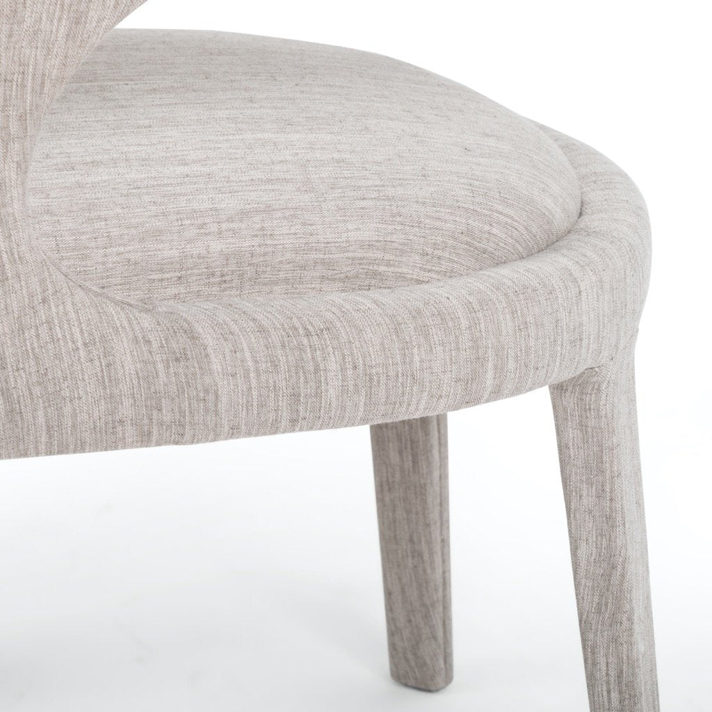 Hawkins Dining Chair - Savile Flannel leg