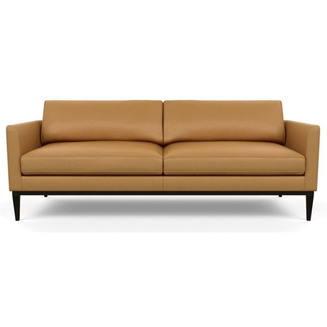 Henley Leather Sofa by American Leather Bali Butterscotch