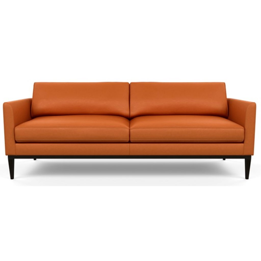 Henley Leather Sofa by American Leather Bali Marigold
