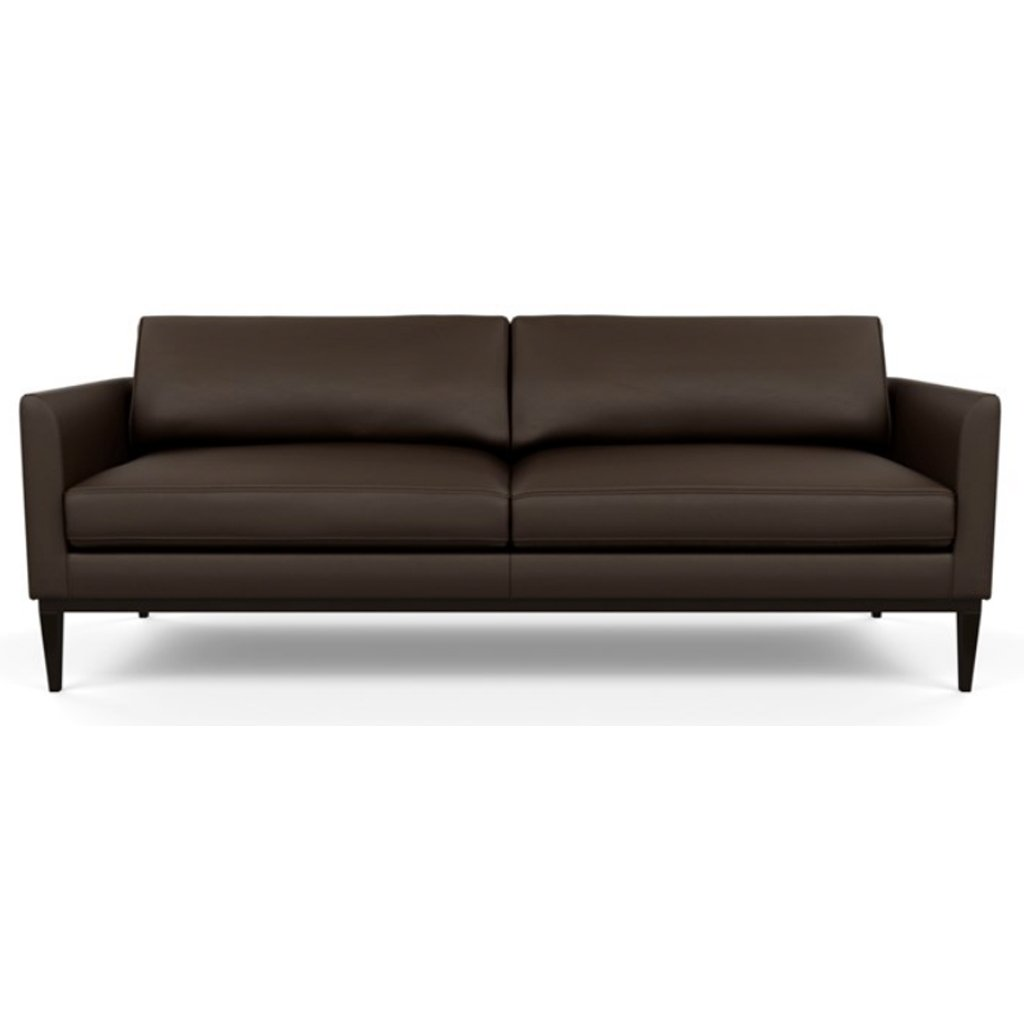 Henley Leather Sofa by American Leather Bali Mocha