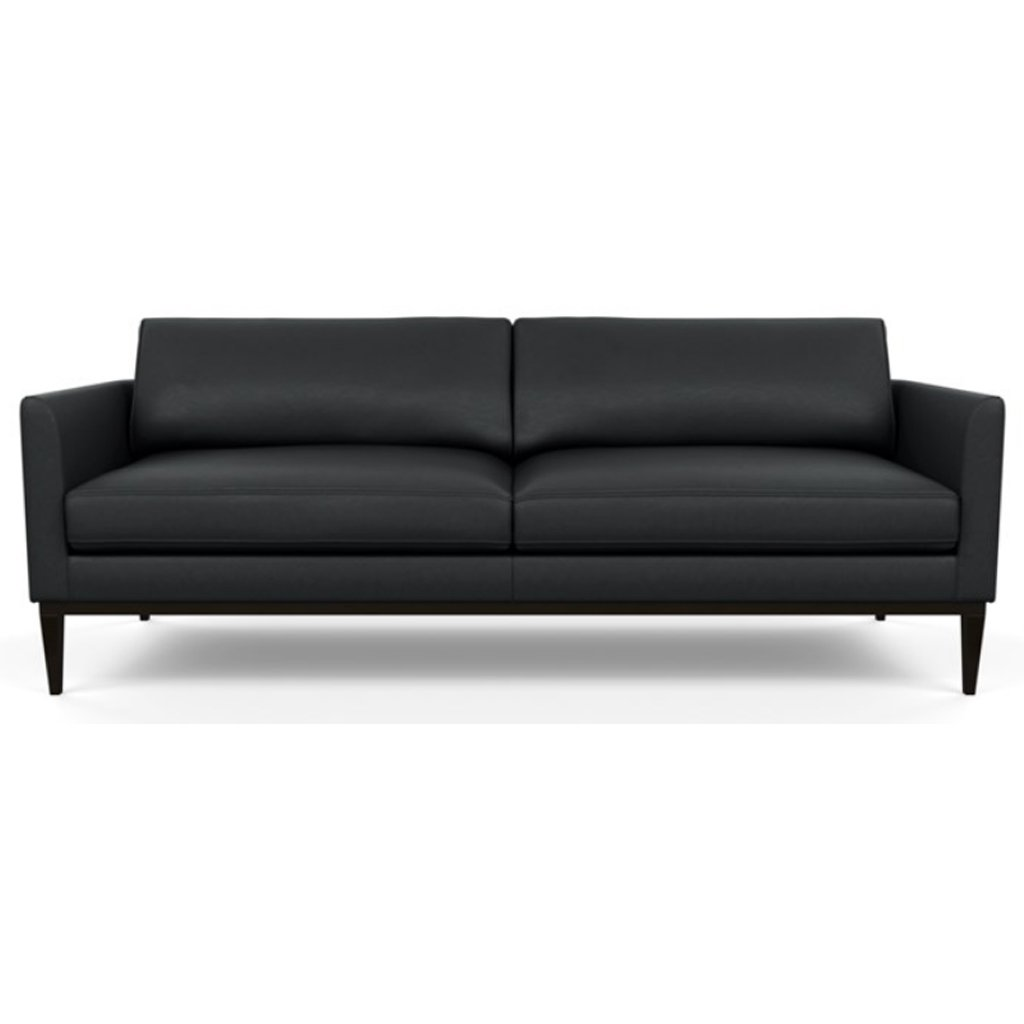 Henley Leather Sofa by American Leather Bali Onyx