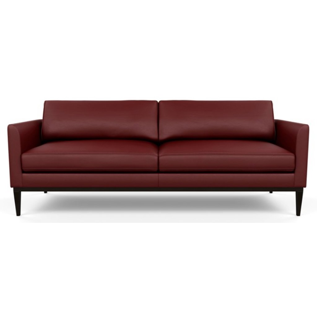 Henley Leather Sofa by American Leather Bali Red Hibiscus