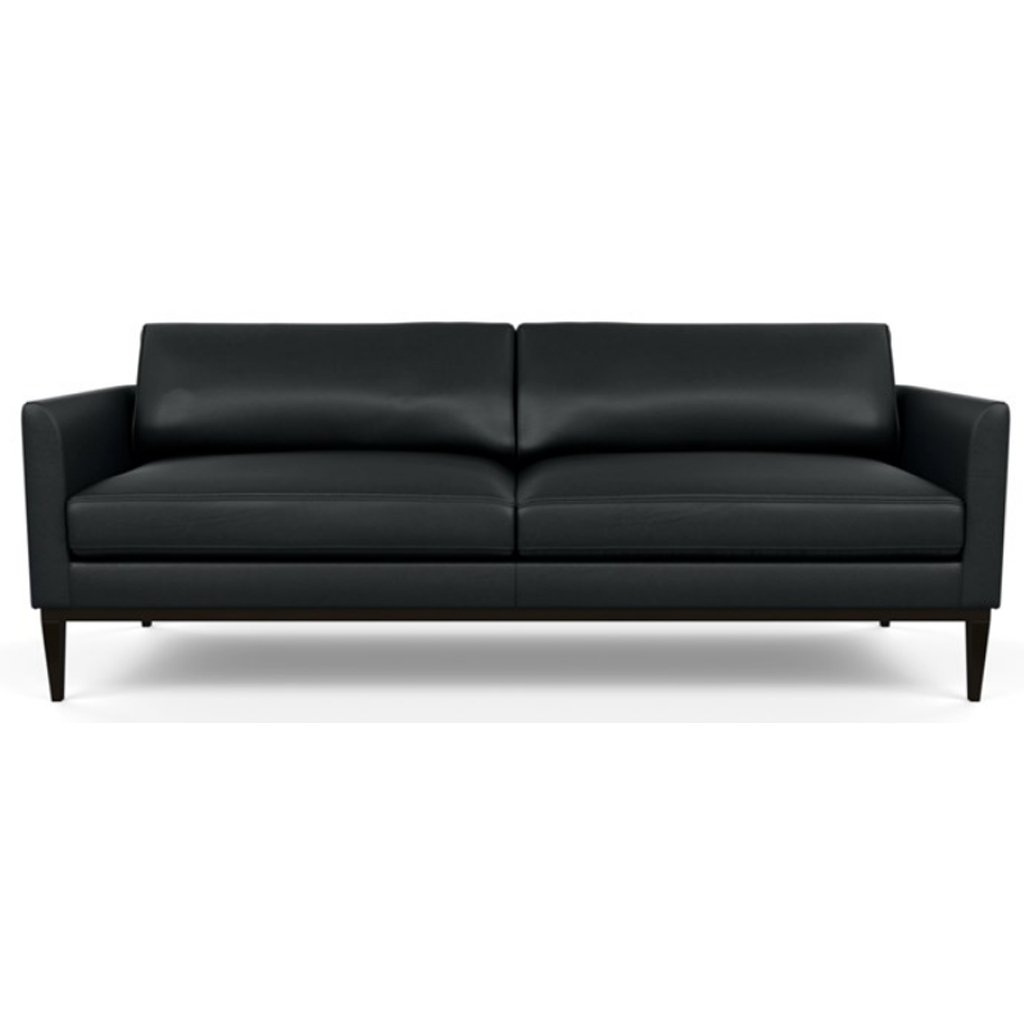 Henley Leather Sofa by American Leather Capri Onyx
