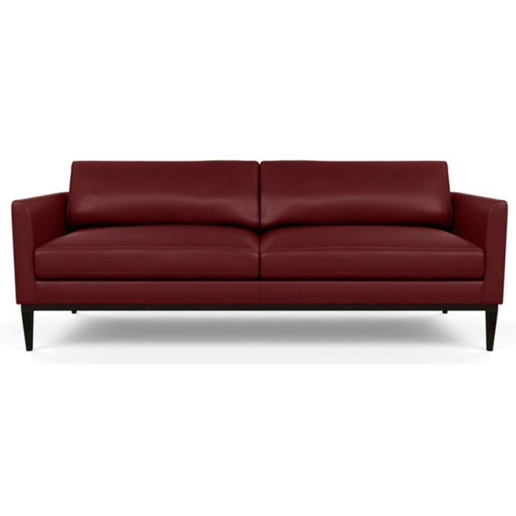 Henley Leather Sofa by American Leather Capri Poppy