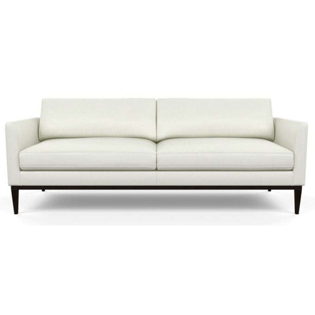 Henley Leather Sofa by American Leather Capri White
