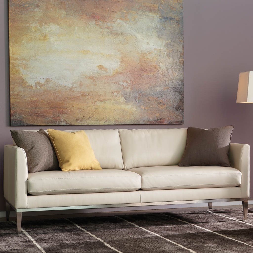 Henley Leather Sofa by American Leather at Artesanos Design Collection