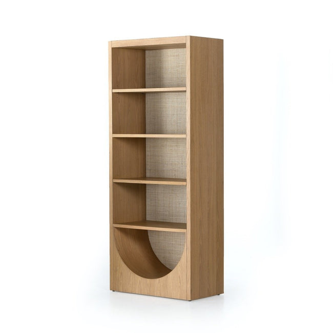Higgs Bookcase - Honey Oak Veneer