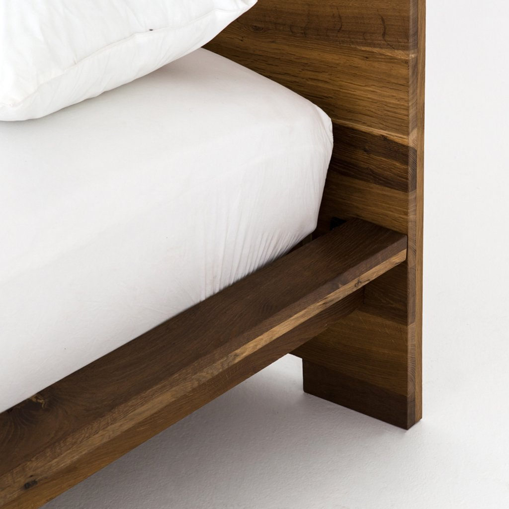Contemporary Oak wood bed