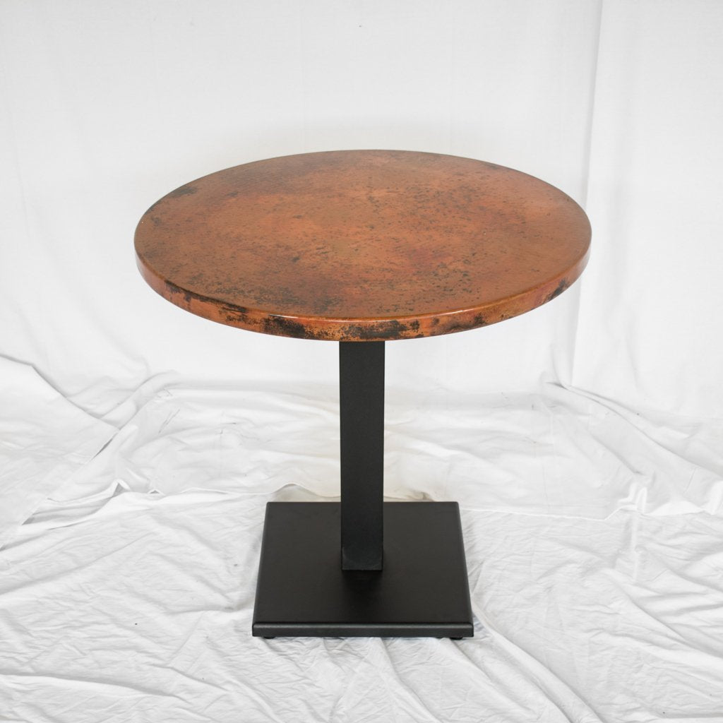 commercial grade copper restaurant table