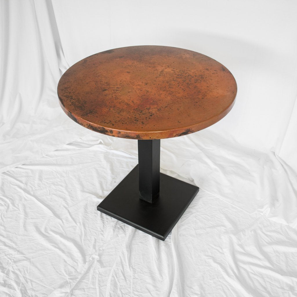 copper restaurant table